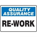 """Accuform MQTL946VS10, 7″ x 10″ Quality Assurance Safety Sign """"Re-Work"""""""