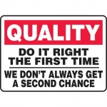 "Accuform MQTL961XT10, 10″ x 14″ Safety Sign ""Do It Right …"""