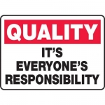 "Accuform MQTL964XT10, 10″ x 14″ Safety Sign ""It's Everyone's …"""