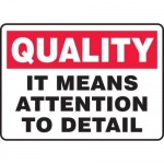 """Accuform MQTL967XL, 10″ x 14″ Safety Sign """"It Means Attention …"""""""