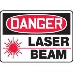 "Accuform MRAD007XV10, 7″ x 10″ OSHA Danger Safety Sign ""Laser Beam"""
