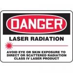 """Accuform MRAD015XF10, 10″ x 14″ OSHA Safety Sign """"Laser Radiation …"""""""