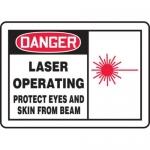 """Accuform MRAD018XF, 10″ x 14″ OSHA Safety Sign """"Laser Operating …"""""""