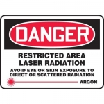 """Accuform MRAD019XF, 10″ x 14″ OSHA Safety Sign """"Restricted Area …"""""""