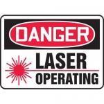 "Accuform MRAD021XL, 7″ x 10″ OSHA Safety Sign ""Laser Operating"""