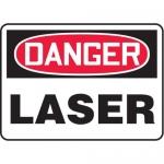"Accuform MRAD024XL, 7″ x 10″ OSHA Danger Safety Sign ""Laser"""
