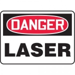 "Accuform MRAD024XT, 7″ x 10″ OSHA Danger Safety Sign ""Laser"""
