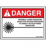 """Accuform MRAD030XF, 10″ x 14″ ANSI Safety Sign """"Invisible Laser …"""""""