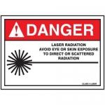 "Accuform MRAD032XF, 10″ x 14″ ANSI Safety Sign ""Laser Radiation …"""