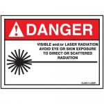 """Accuform MRAD034XF, 10″ x 14″ ANSI Safety Sign """"Visible Laser …"""""""
