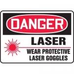 "Accuform MRAD100XT10, 10″ x 14″ OSHA Danger Safety Sign ""Laser …"""