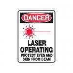 """Accuform MRAD108XF10, 14″ x 10″ OSHA Safety Sign """"Laser Operating …"""""""