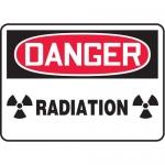 "Accuform MRAD110XL, 7″ x 10″ OSHA Danger Safety Sign ""Radiation"""