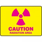 "Accuform MRAD501XT10, 7″ x 10″ Caution Safety Sign ""Radiation Area"""