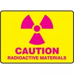 "Accuform MRAD503XT10, 7″ x 10″ Safety Sign ""Radioactive Materials"""