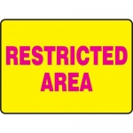 """Accuform MRAD505XL, 10″ x 14″ Safety Sign """"Restricted Area"""""""