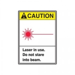 "Accuform MRAD611XT, 10″ x 7″ ANSI Safety Sign ""Laser In Use …"""