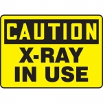 """Accuform MRAD612XP10, 10″ x 14″ OSHA Safety Sign """"X-Ray In Use"""""""