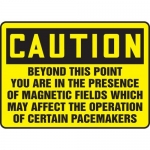 """Accuform MRAD615XP10, 10″ x 14″ Safety Sign """"Beyond This Point …"""""""