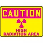 "Accuform MRAD616XP10, 10″ x 14″ OSHA Safety Sign ""High Radiation Area"""