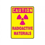 """Accuform MRAD617XP10, 14″ x 10″ Safety Sign """"Radioactive Materials"""""""