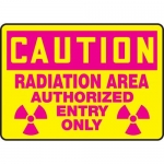 "Accuform MRAD620XP, 10″ x 14″ OSHA Safety Sign ""Radiation Area …"""