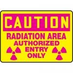 "Accuform MRAD620XP10, 10″ x 14″ OSHA Safety Sign ""Radiation Area …"""