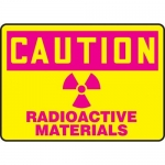 """Accuform MRAD622XP10, 10″ x 14″ Safety Sign """"Radioactive Materials"""""""