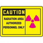 """Accuform MRAD631XP, 10″ x 14″ Safety Sign """"Radiation Area …"""""""