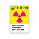 "Accuform MRAD635XT10, 10″ x 7″ Safety Sign ""Radiation Area …"""