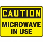 """Accuform MRAD639XP10, 7″ x 10″ OSHA Safety Sign """"Microwave In Use"""""""