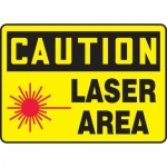 "Accuform MRAD640XP, 7″ x 10″ OSHA Caution Safety Sign ""Laser Area"""