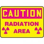 "Accuform MRAD644XV10, 7″ x 10″ OSHA Safety Sign ""Radiation Area"""