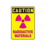 """Accuform MRAD645XL, 10″ x 7″ Safety Sign """"Radioactive Materials"""""""