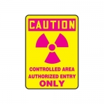 """Accuform MRAD652VP, 14″ x 10″ OSHA Safety Sign """"Controlled Area …"""""""