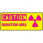 "Accuform MRAD661XL, 7″ x 17″ OSHA Safety Sign ""Radiation Area"""