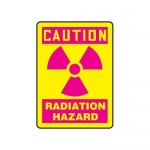 "Accuform MRAD701XP, 10″ x 7″ OSHA Safety Sign ""Radiation Hazard"""