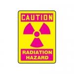 "Accuform MRAD701XV10, 10″ x 7″ OSHA Safety Sign ""Radiation Hazard"""