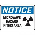 "Accuform MRAD808XP, 10″ x 14″ OSHA Safety Sign ""Microwave Hazard…"""