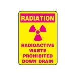 """Accuform MRAD914XP10, 14″ x 10″ Safety Sign """"Radioactive Waste …"""""""