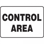 """Accuform MRAD917VP10, 10″ x 14″ Safety Sign """"Control Area"""""""