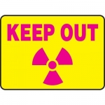 """Accuform MRAD918XL, 10″ x 14″ Safety Sign """"Keep Out"""""""