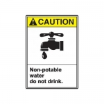"""Accuform MRAW201XF10, 14″ x 10″ Safety Sign """"Non-Potable Water …"""""""