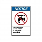"""Accuform MRAW800XF, 10″ x 7″ Safety Sign """"This Water Is Unsafe …"""""""