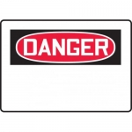 Accuform MRBH201XT10, 7″ x 10″ OSHA Danger Safety Sign Blank