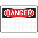 Accuform MRBH261XP, 7″ x 10″ OSHA Danger Safety Sign Blank
