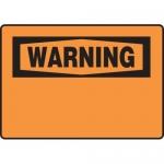 Accuform MRBH331XV, 10″ x 14″ OSHA Warning Safety Sign Blank