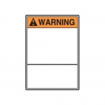 Accuform MRBH335XT, 10″ x 7″ ANSI Warning Safety Sign Blank