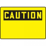 Accuform MRBH607XF, 7″ x 10″ OSHA Caution Safety Sign Blank