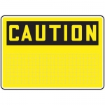 Accuform MRBH644XP10, 10″ x 14″ OSHA Caution Sign Grid-Lined Blank